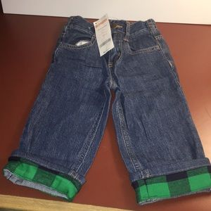 Gymboree Plaid cuffed Jeans.